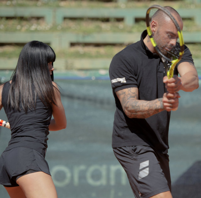lezione di tennis duo